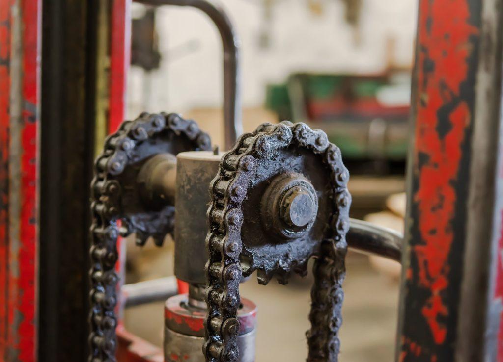 óxido y corrosión máquinas por humedad