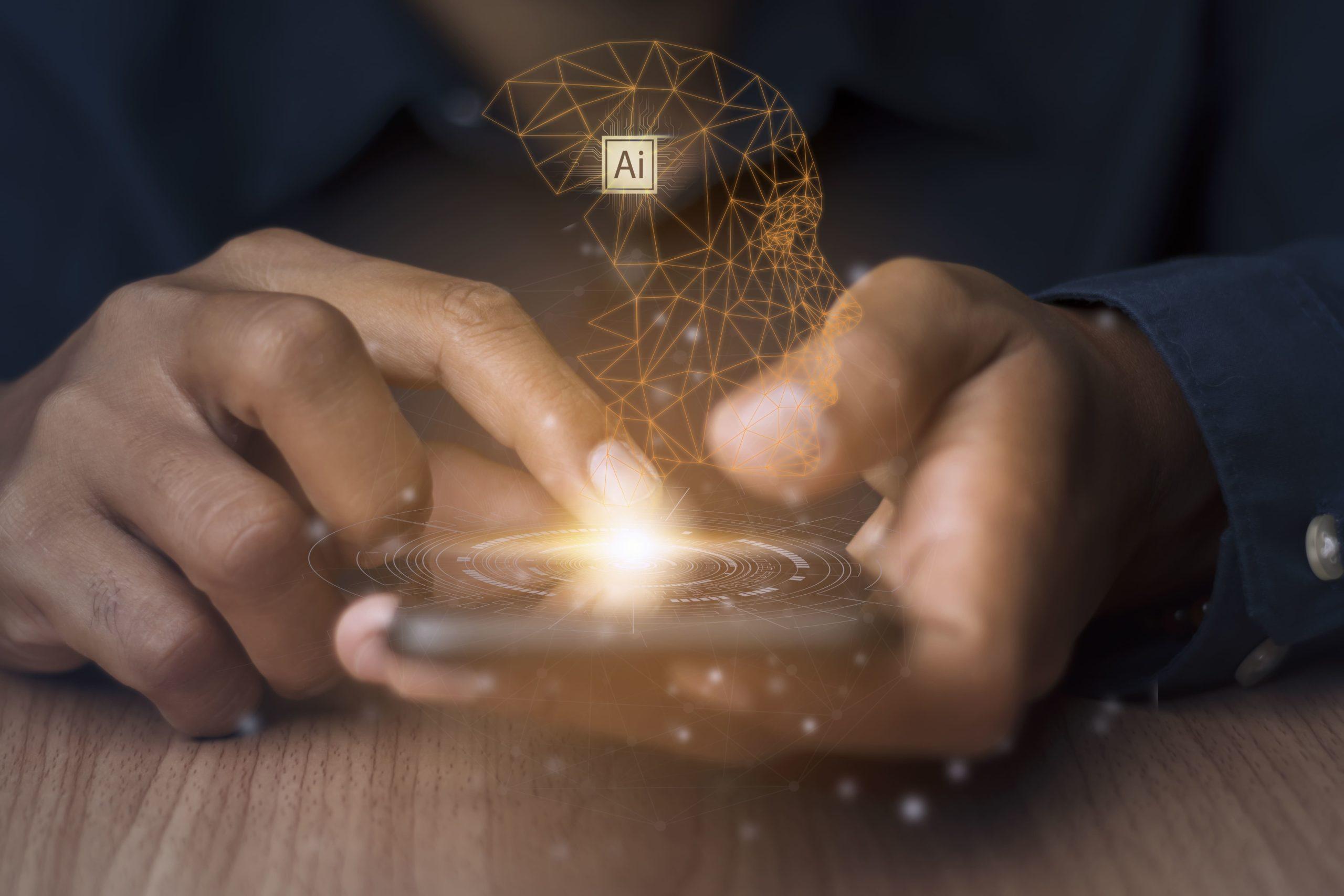 teléfono inteligente y tu uso de la inteligencia artificial en tu día a día